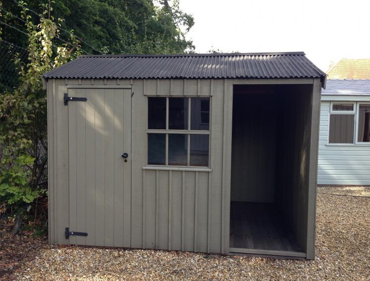 Garden storage with Onduline Mini Profile roofing