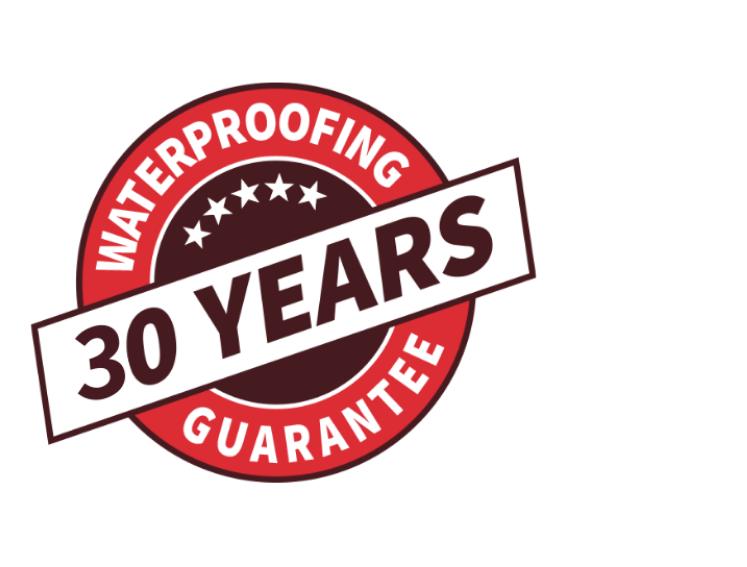 30 year waterproofing guarantee