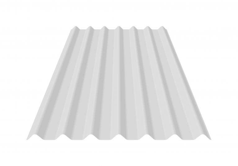 Transparent corrugated polycarbonate sheets